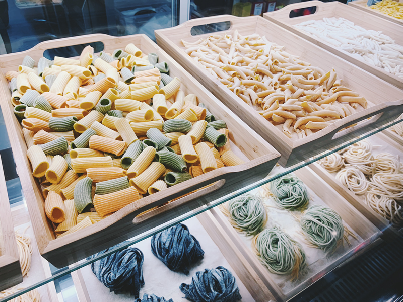 sustainable living italy - fresh pasta