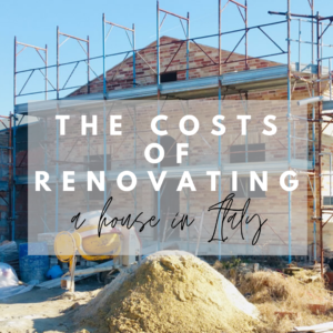 costs of renovating house Italy