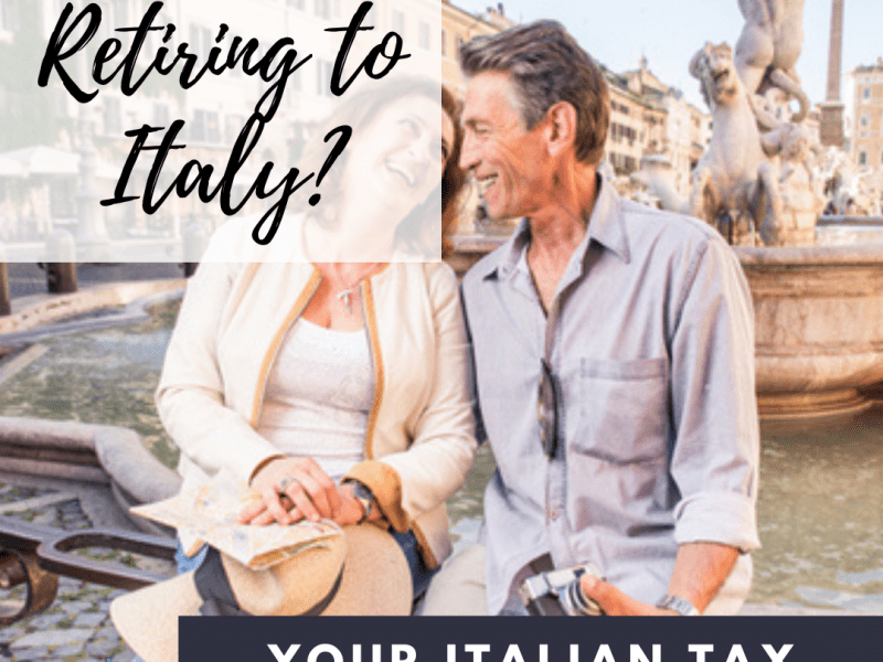 retire to italy tax questions