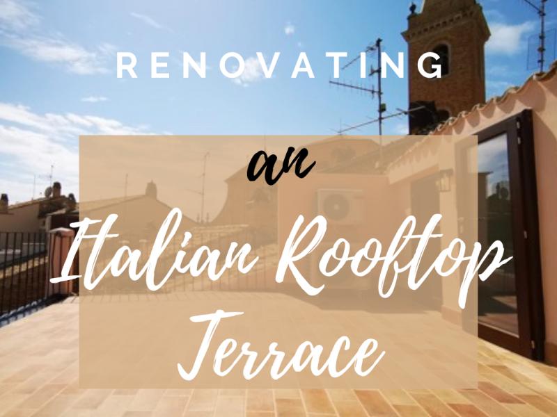 Italian rooftop terrace renovation